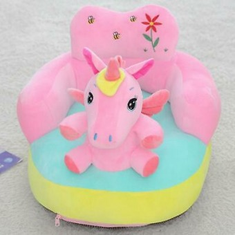 Kids Baby Support Seat Sit Up Chair Cushion Sofa Plush Pillow Feeding Cover EL